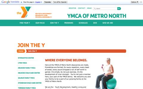 Screenshot of Signup Page ymcametronorth.org - Join the Y «  YMCA of Metro North - captured Oct. 3, 2014