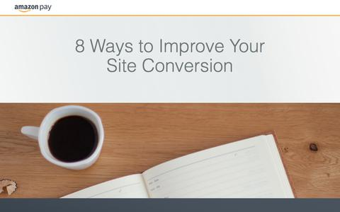 Screenshot of Landing Page amazon.com - 8 Ways to Improve Your Site Conversion - captured Sept. 4, 2017
