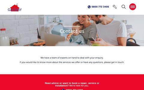 Screenshot of Contact Page gasway.co.uk - Contact us - Gasway - captured Nov. 10, 2018