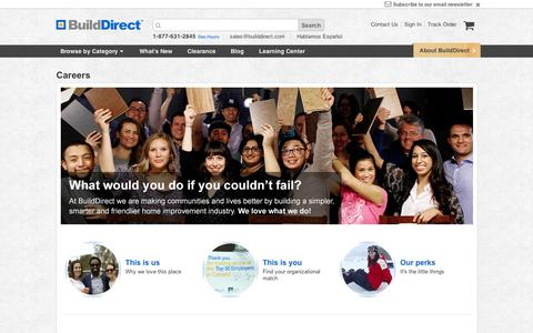 Screenshot of Jobs Page builddirect.com - BuildDirect Careers – We love what we do - captured Sept. 11, 2014