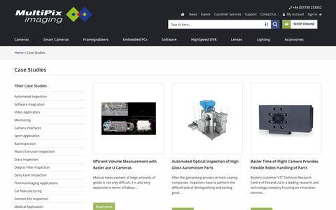 Screenshot of Case Studies Page multipix.com - Case Studies - Multipix Imaging - captured Sept. 25, 2018