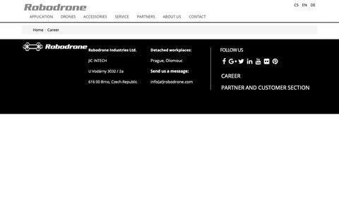 Screenshot of Jobs Page robodrone.com - Robodrone - Career - captured Oct. 18, 2018