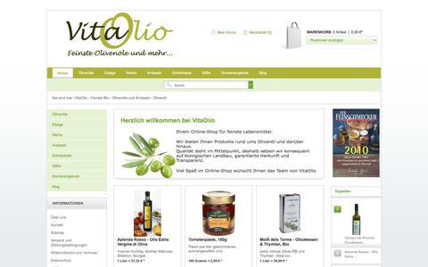 Screenshot of vitaolio.de - VitaOlio - Feinste Bio - Olivenöle und Antipasti - Olivenöl - captured June 9, 2016