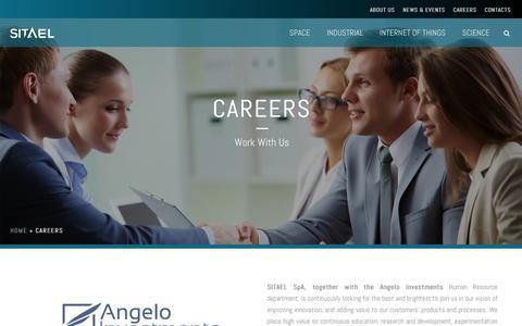 Screenshot of Jobs Page almaspace.com - Careers | SITAEL S.p.A. - captured July 23, 2016