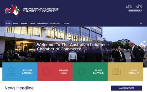 Screenshot of Home Page alcc.com.au - The Australian Lebanese Chamber of Commerce : Unite for Growth - captured Sept. 4, 2015