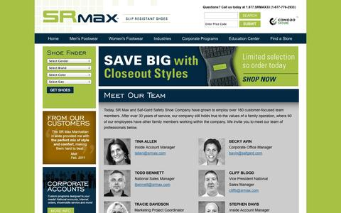 Screenshot of Team Page srmax.com - Team :: About Us - captured Oct. 3, 2014