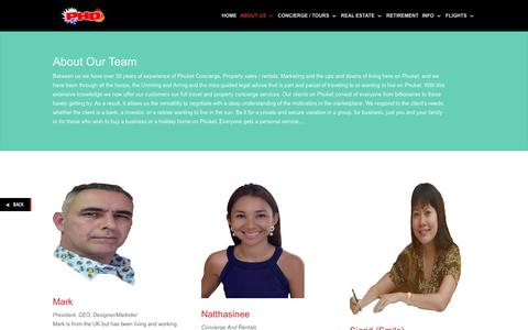 Screenshot of Team Page hoteldealsphuket.com - The Concierge And Property Team | Phuket Hotel Deals - captured Oct. 22, 2017