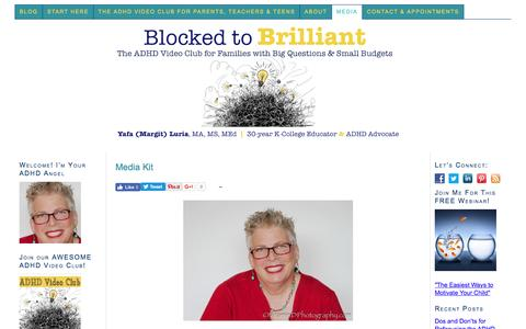 Screenshot of Press Page margitcrane.com - Margit Crane's Press Kit with Bios, Interviews, & Suggested Storylines :: Blocked to Brilliant - captured Nov. 6, 2016