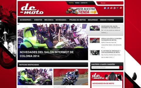 Screenshot of Blog de-moto.es - Portal De-moto, la mejor información sobre el mundo motero: accesorios de moto, mecánica de moto y más.   El portal de motociclismo para fanáticos de las dos ruedas: prueba de motos, marcas, competencias, accesorios, mecánica, seguridad, eventos y má - captured Oct. 7, 2014