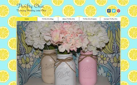 Screenshot of Home Page thriftychic.net - Thrifty Chic, upcycled Furniture and mobile boutique, Los Angeles - captured Feb. 29, 2016