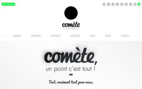 Screenshot of Home Page comete.com - Comète Agence de communication Technique & Créative Lyon - captured July 20, 2018