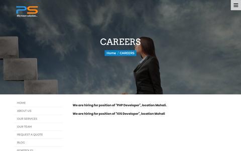 Screenshot of Jobs Page perceptsystems.com - Hiring Jobs   Apply Hiring Jobs In Percept Systems Private Limited - captured Nov. 4, 2018