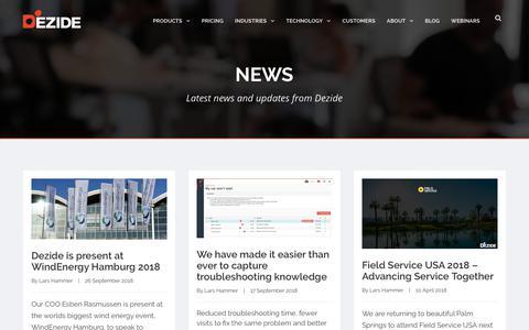 Screenshot of Press Page dezide.com - News - Dezide - captured Nov. 4, 2018