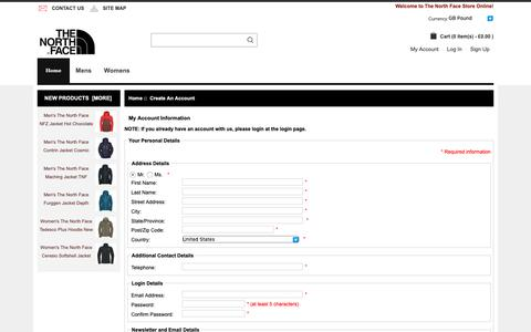 Screenshot of Signup Page qtandc.co.uk - Create an Account : www.touring-skegness.co.uk, The North Face | Shop For Men's And Women's Outdoor Apparel And Outdoor Shoes, Bags Online UK. - captured Nov. 9, 2018
