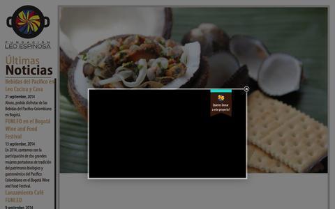Screenshot of Home Page funleo.org - Fundación Leo Espinosa - captured Oct. 6, 2014