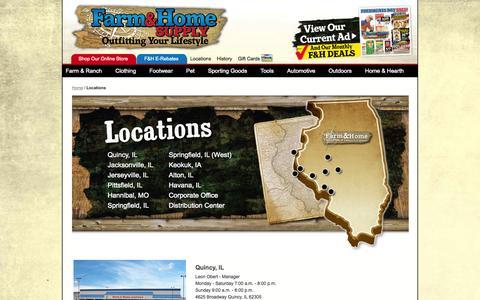 Screenshot of Locations Page farmandhomesupply.com - Locations - captured Sept. 19, 2014