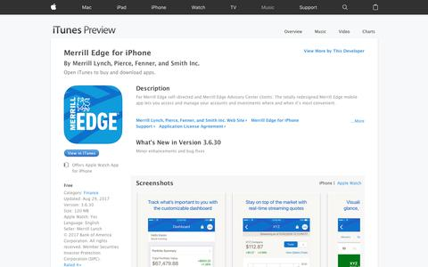 Merrill Edge for iPhone on the App Store
