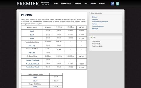 Screenshot of Pricing Page premiersportinggoods.ie - Check out the Pricing from Premier Sporting Goods | Premier Sporting Goods - captured Sept. 30, 2014
