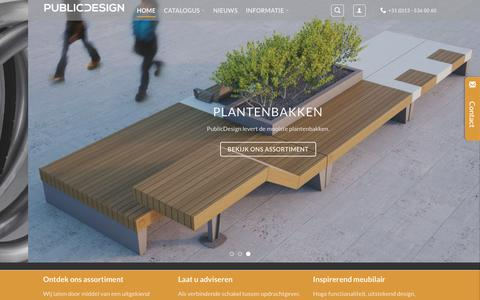 Screenshot of Home Page publicdesign.nl - Welkom - PublicDesign - captured July 24, 2018