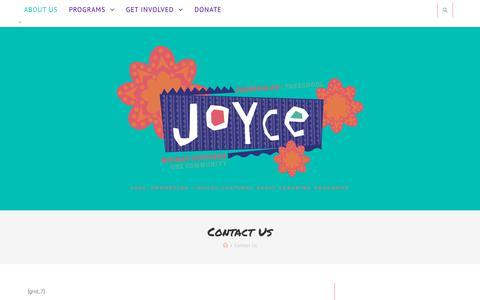 Screenshot of Contact Page joycepreschool.org - Contact Us – Joyce Preschool - captured Sept. 20, 2018