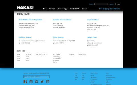 Screenshot of Site Map Page hokaoneone.com - Site Map | HOKA ONE ONE® Official Site - captured Sept. 22, 2014