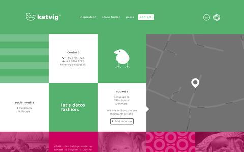 Screenshot of Contact Page katvig.dk - KATVIG - Contact - captured Aug. 8, 2016