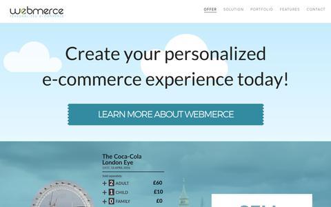 Screenshot of Home Page webmerce.com - Webmerce - personalized e-commerce for demanding retailers. - captured Oct. 20, 2018