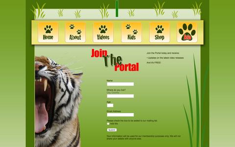 Screenshot of Signup Page thewildlifeportal.tv - TheWildlifePortal.tv   Join The Portal - captured Feb. 16, 2016