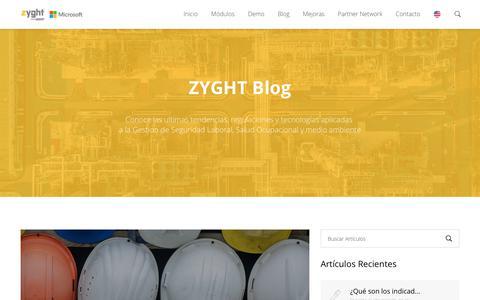 Screenshot of Blog zyght.com - Contenidos, Herramientas e Información | Blog | ZYGHT - captured Nov. 7, 2018