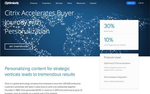 Citrix Personalizes with Optimizely-Demandbase Integration