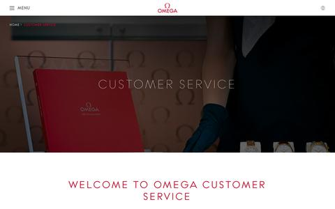 Screenshot of Support Page omegawatches.com - OMEGA Watches: Customer Service - captured Nov. 25, 2015