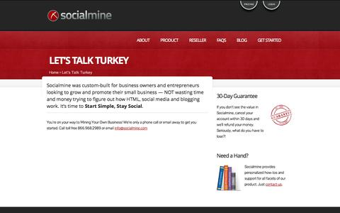 Screenshot of Pricing Page socialmine.com - Start Simple. Stay Social. » Socialmine - captured Oct. 26, 2014