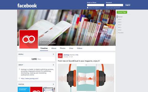 Screenshot of Facebook Page facebook.com - Joomag | Facebook - captured Oct. 23, 2014