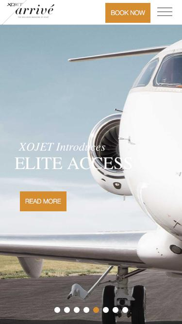 Screenshot of Blog  xojet.com - XOJET Arrivé - The Exclusive Magazine of XOJET