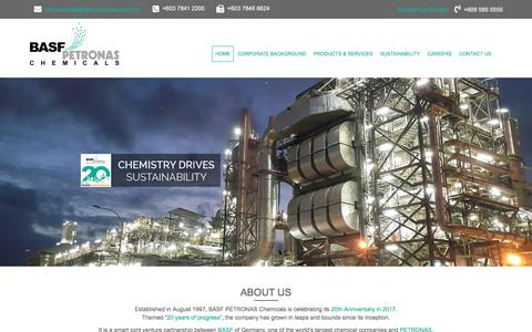 BASF PETRONAS Chemicals | Chemistry Drives Sustainability