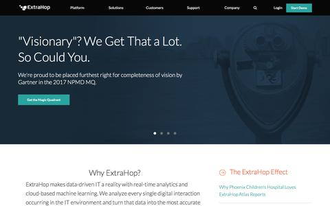 ExtraHop: IT Operations & Wire Data Analytics Platform | ExtraHop