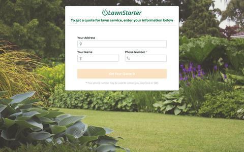 Screenshot of Signup Page lawnstarter.com - LawnStarter Signup - captured Sept. 15, 2017