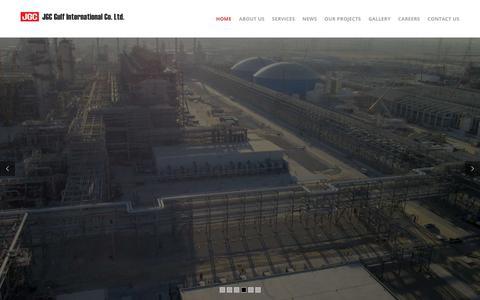 Screenshot of Home Page jgc.com.sa - JGC – Gulf International Co. Ltd. - captured Sept. 24, 2018