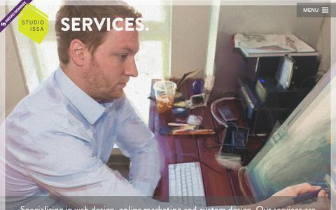 Screenshot of Services Page studioissa.com - Services - Studio Issa - captured Aug. 16, 2015