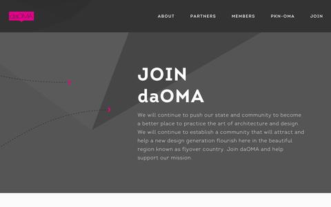 Screenshot of Signup Page daoma.org - Join | daOMA (design alliance OMAha, Inc.) - captured Oct. 5, 2014