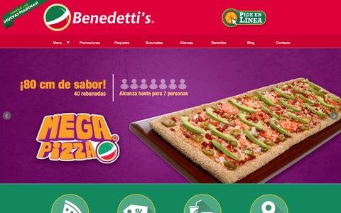 Screenshot of Home Page benedettis.com - Benedetti's Pizza - captured Jan. 17, 2016