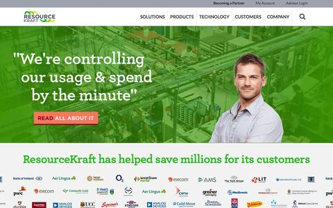 Screenshot of Home Page resourcekraft.com - Home Page - ResourceKraft - captured July 3, 2015