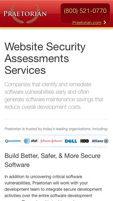 Website Security Assessments Services |  Praetorian