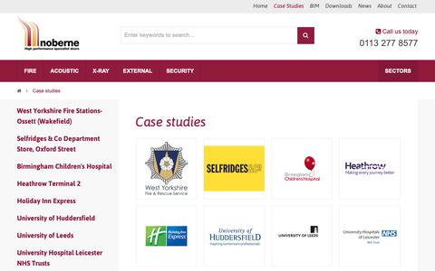 Screenshot of Case Studies Page nobernedoors.co.uk - Case Studies Of Our Work | Noberne Doors - captured Oct. 20, 2018