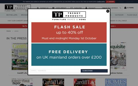 Screenshot of Press Page trendy-products.co.uk - press | Trendy Products - captured Oct. 1, 2018