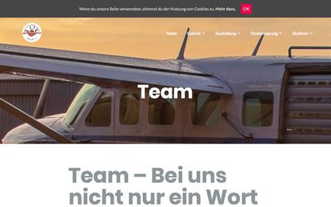 Screenshot of Team Page fsz-hassfurt.de - Team – Fallschirm-Sport-Zentrum Haßfurt e.V. - captured May 23, 2018