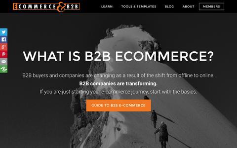 Screenshot of Home Page ecommerceandb2b.com - eCommerceandB2B.com * What is B2B e-commerce - captured Jan. 26, 2015