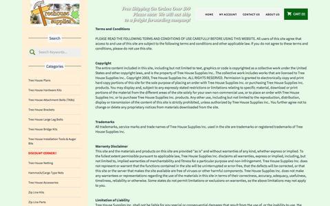 Screenshot of Terms Page treehousesupplies.com - Terms - captured Nov. 7, 2017