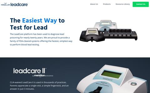Screenshot of Products Page magellandx.com - Products | Magellan Diagnostics | A Meridian Bioscience Company - captured Oct. 23, 2018