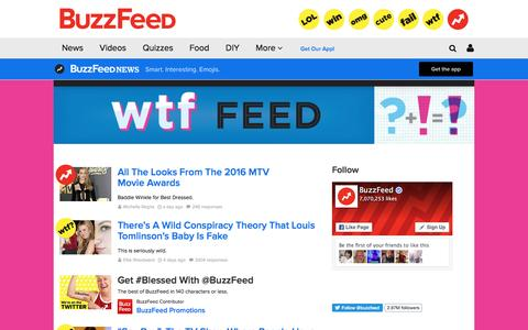 Screenshot of buzzfeed.com - WTF Feed (wtf) on BuzzFeed - captured April 12, 2016